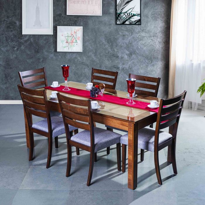 Geneva Dining Table 6x3 With Elegant Chair